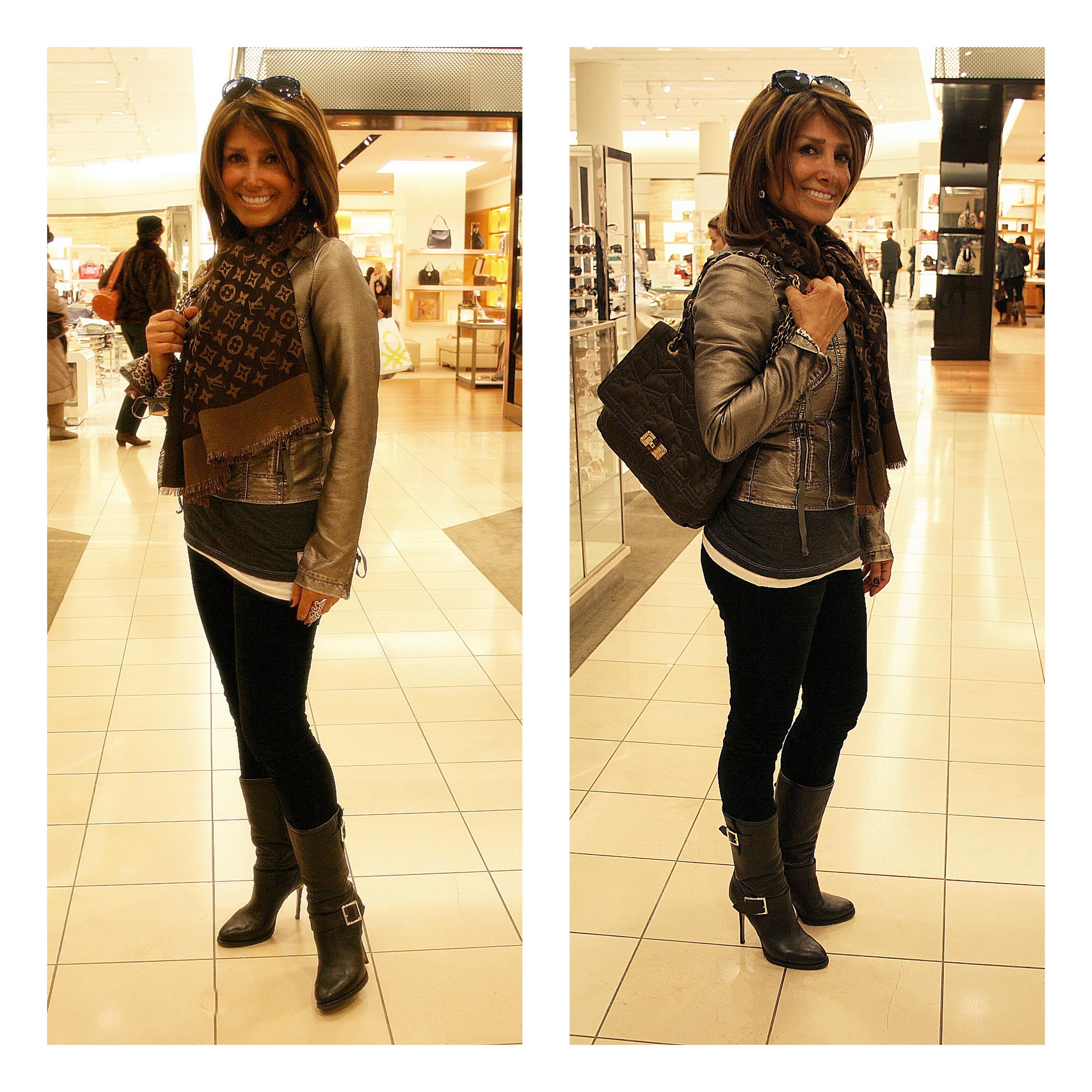 Ms. Mahnaz wears Lanvin, LV & Jimmy Choo