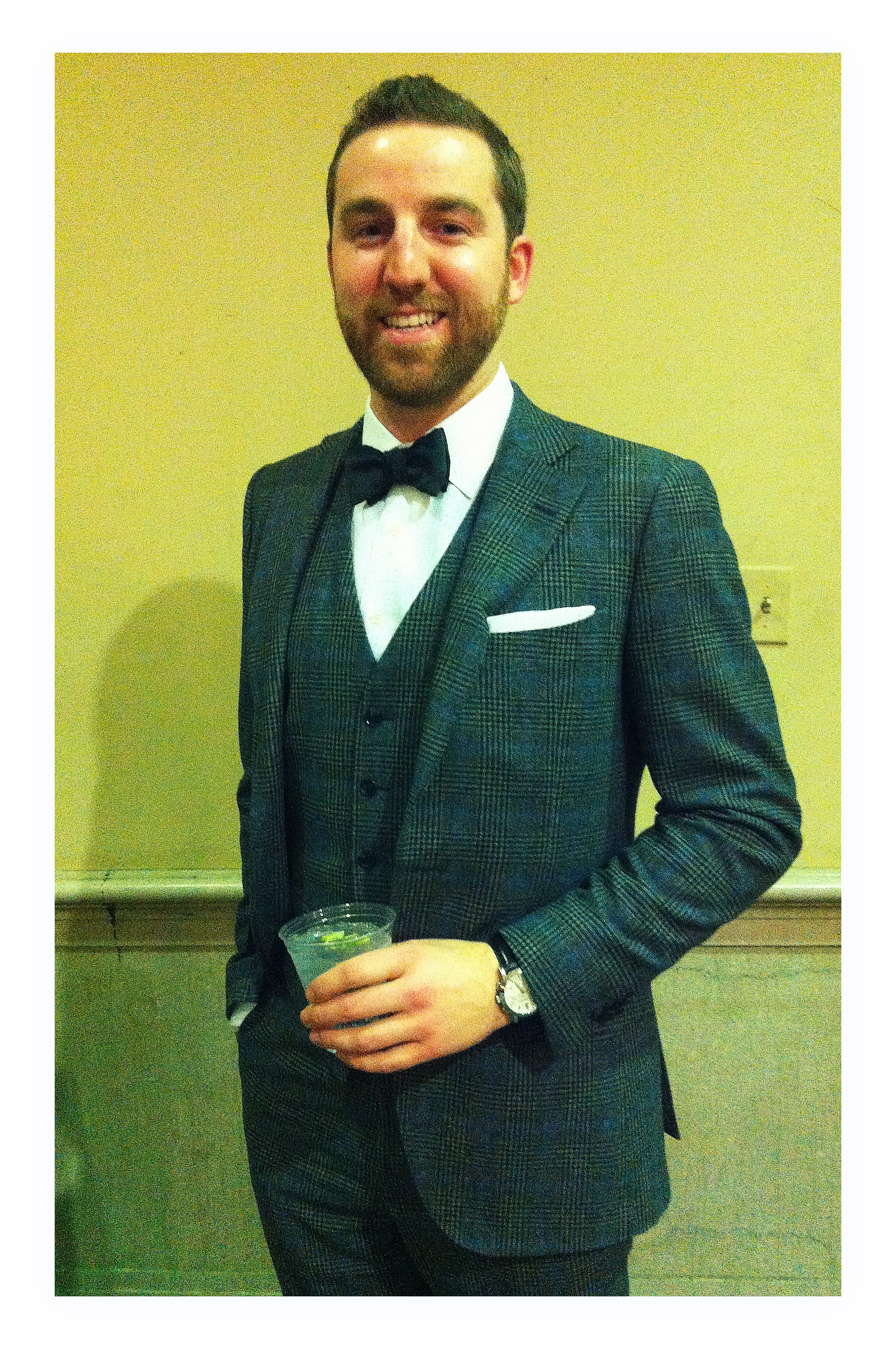 Mr. Adam Gifford in Suit Supply, Bow Tie by Brooks Brothers and shirt by Frederick Lynn