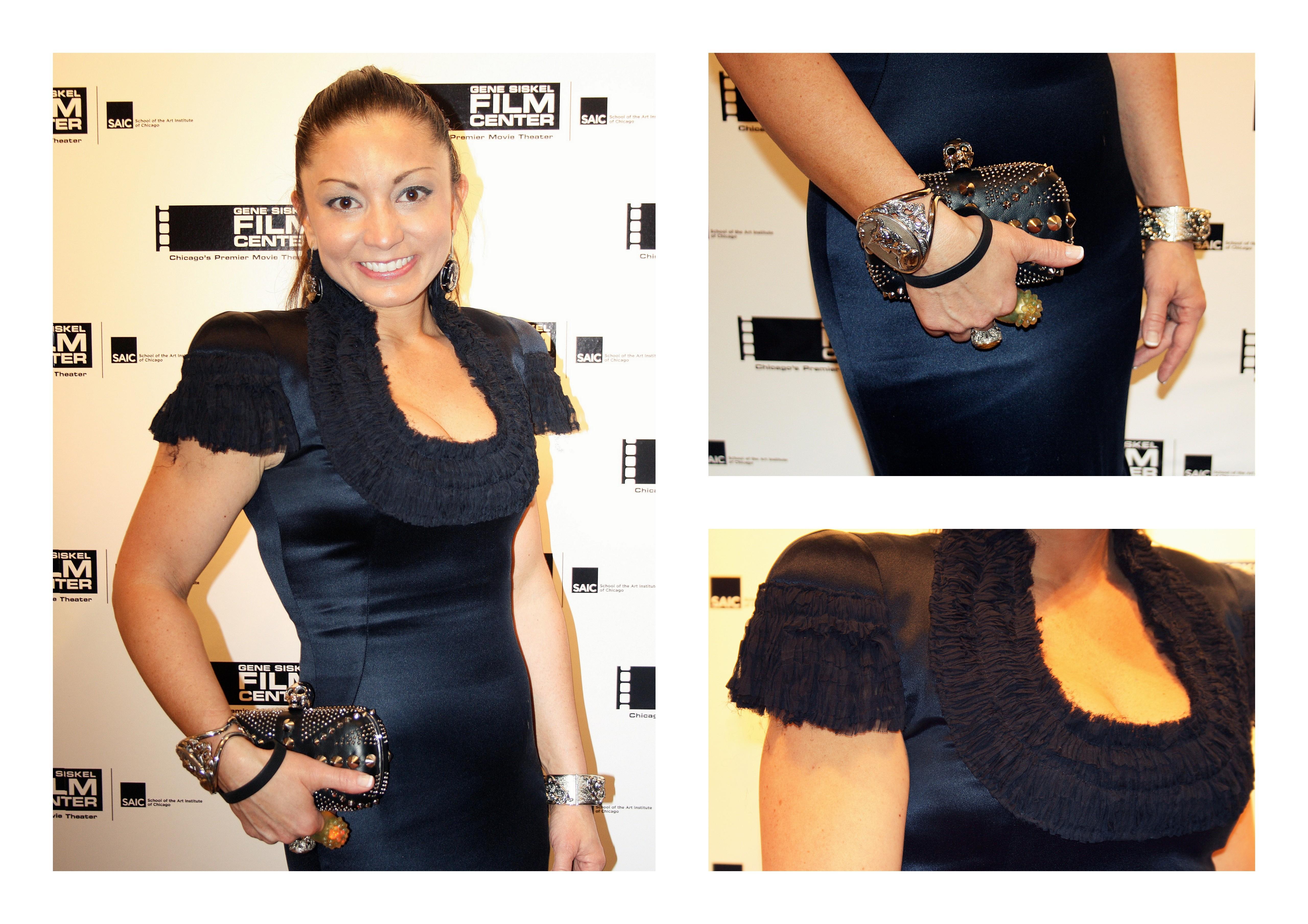Ms. Genine Shafar in Alexander McQueen Dress & Bag