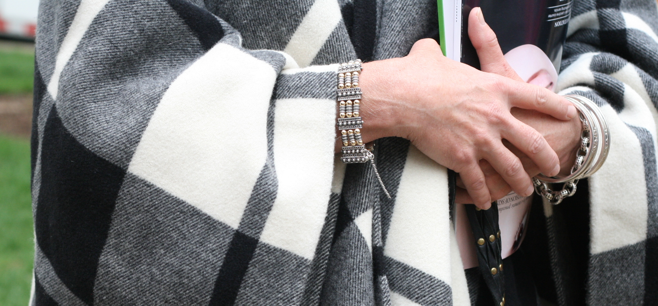 Accessorized with some classic bling, how perfect is this outfit?