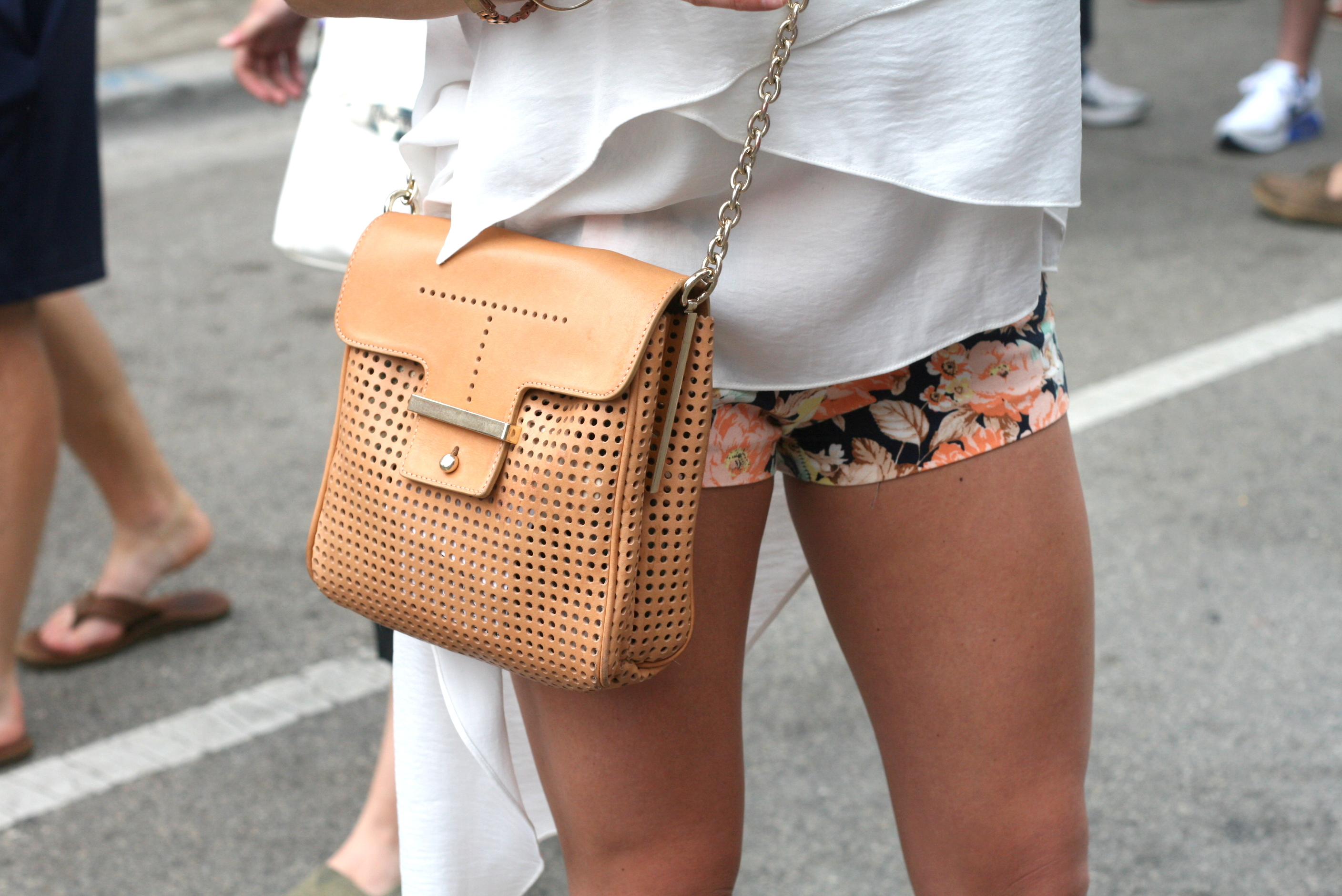 Bag by LOFT, mind you- still lusting over that boho-chic top..!